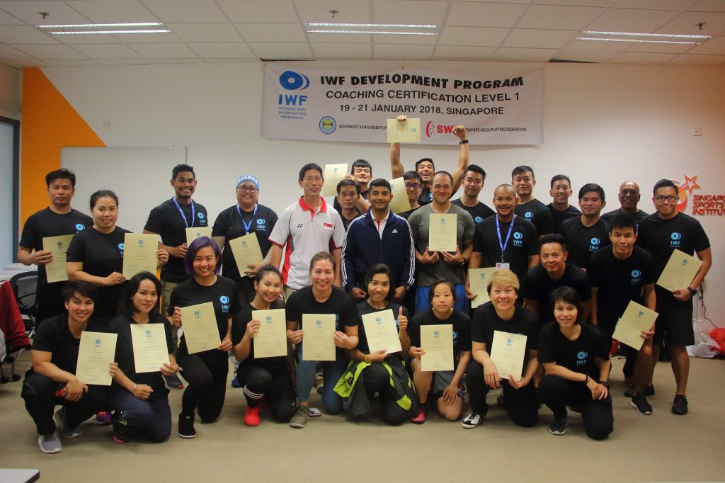 Singapore Coaching Course Iwfinternational Weightlifting Federation